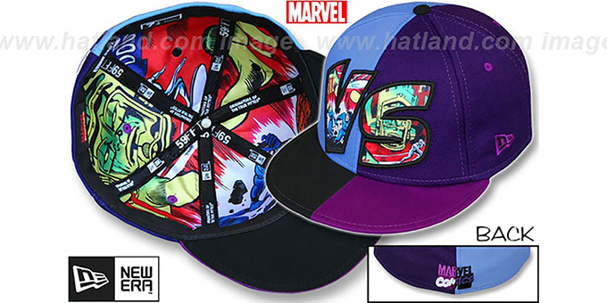 Fantastic Four 'VERSUS' Galactus Multi Fitted Hat by New Era : pictured without stickers that these products are shipped with