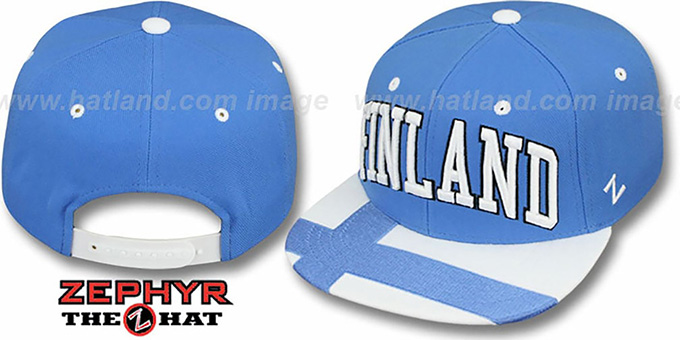 Finland 'SUPERSTAR SNAPBACK' Sky Hat by Zephyr