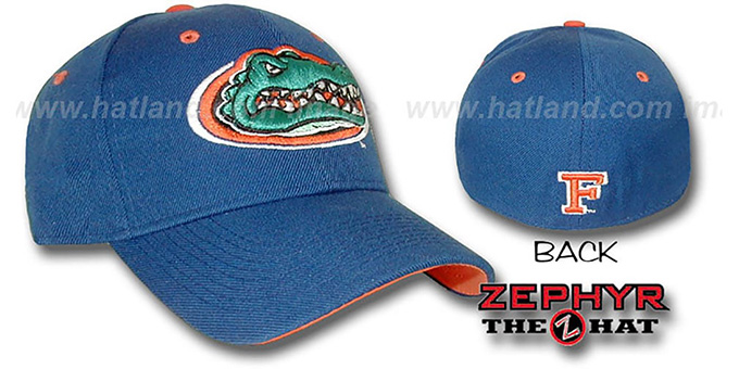 Florida 'DHS' Fitted hat by Zephyr - royal : pictured without stickers that these products are shipped with