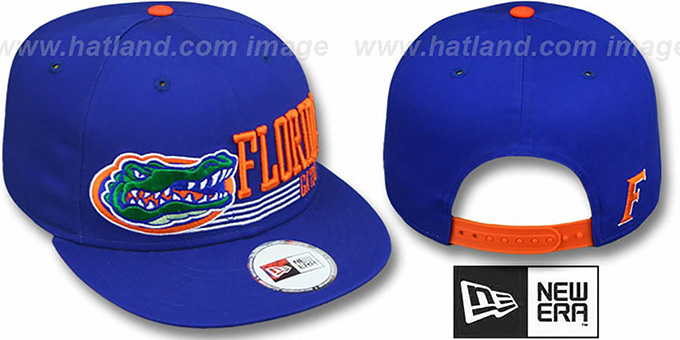 Florida 'RETRO-SNAPBACK' Royal Hat by New Era : pictured without stickers that these products are shipped with