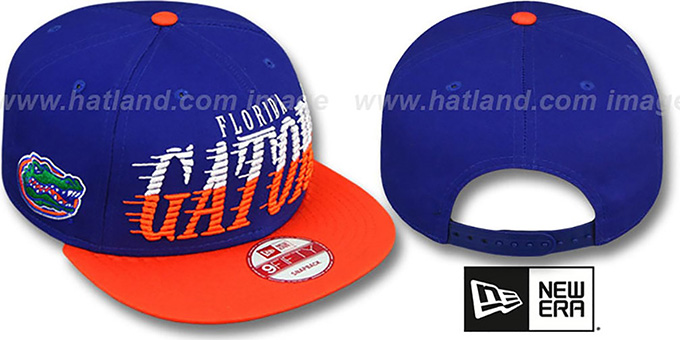 Florida 'SAILTIP SNAPBACK' Royal-Orange Hat by New Era : pictured without stickers that these products are shipped with