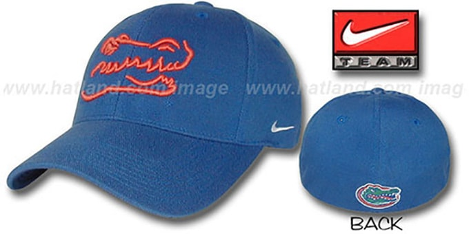 Florida 'SHADOW FLEX' Hat by Nike - royal : pictured without stickers that these products are shipped with