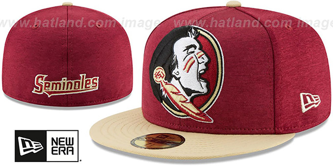 Florida State 'ALT HEATHER-HUGE 2' Burgundy-Gold Fitted Hat by New Era