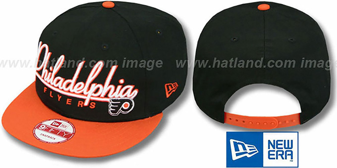 Flyers '2T CHARZ SNAPBACK' Black-Orange Hat by New Era : pictured without stickers that these products are shipped with