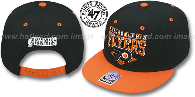 Flyers '2T HOLDEN SNAPBACK' Adjustable Hat by Twins 47 Brand : pictured without stickers that these products are shipped with
