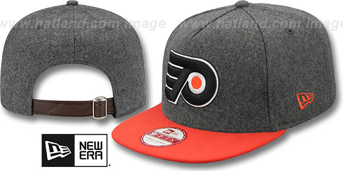 Flyers '2T MELTON A-FRAME STRAPBACK' Hat by New Era : pictured without stickers that these products are shipped with