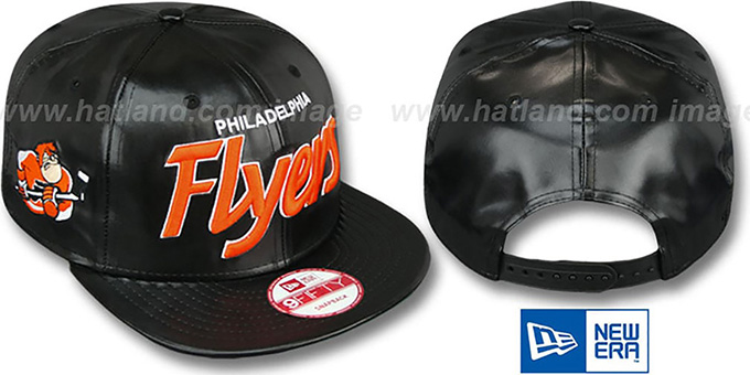 Flyers 'REDUX SNAPBACK' Black Hat by New Era : pictured without stickers that these products are shipped with