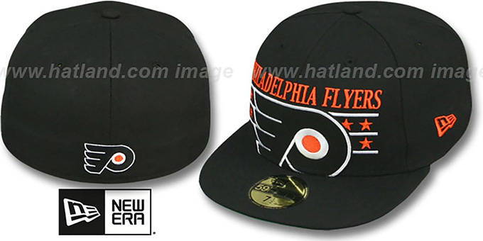 Flyers 'STAR STUDDED' Black Fitted Hat by New Era : pictured without stickers that these products are shipped with