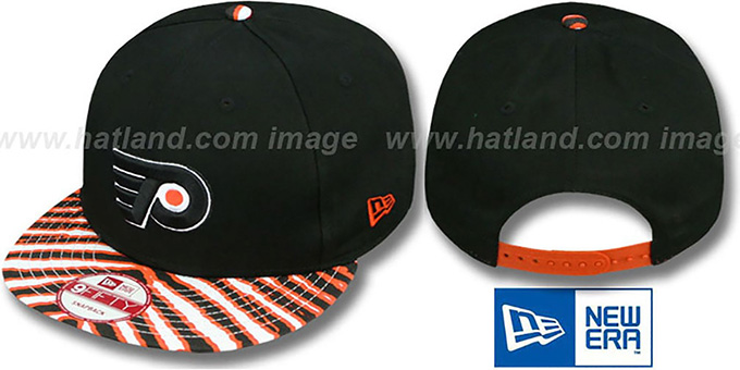 Flyers 'ZUBAZ SNAPBACK' Adjustable Hat by New Era : pictured without stickers that these products are shipped with