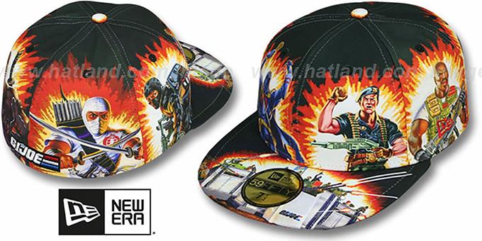 G.I. Joe 'HI-RES ALL-OVER' Multi Fitted Hat by New Era : pictured without stickers that these products are shipped with
