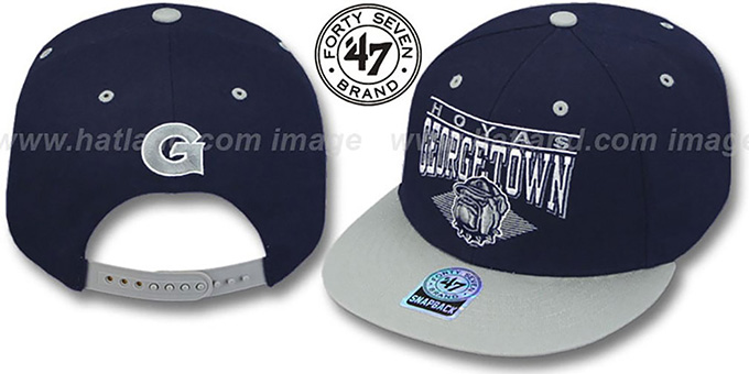 Georgetown '2T HOLDEN SNAPBACK' Adjustable Hat by Twins 47 Brand : pictured without stickers that these products are shipped with