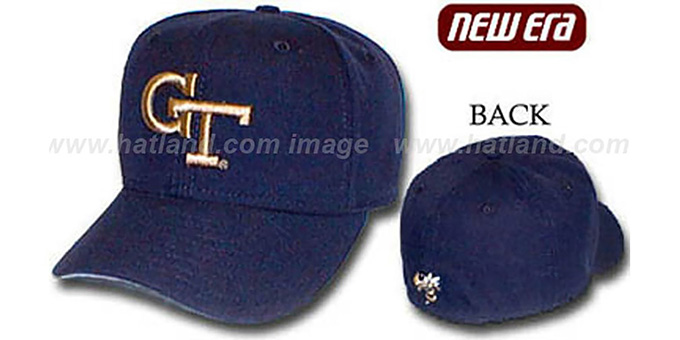 Georgia Tech '59FIFTY' Fitted Hat by New Era : pictured without stickers that these products are shipped with