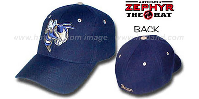 Georgia Tech 'DHS' Fitted Hat by ZEPHYR - navy : pictured without stickers that these products are shipped with