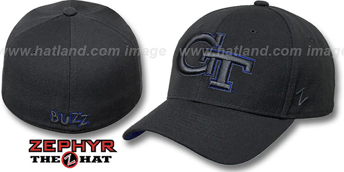 Georgia Tech 'RENEGADE' Grey Fitted Hat by Zephyr : pictured without stickers that these products are shipped with