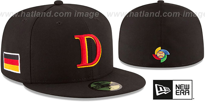 Germany 'PERFORMANCE WBC-2' Black Hat by New Era : pictured without stickers that these products are shipped with