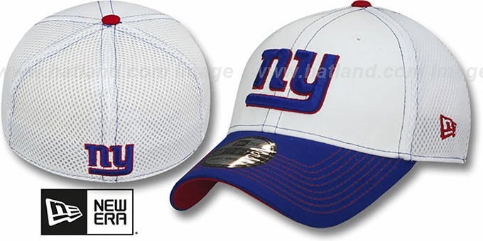 Giants 'BLITZ NEO FLEX' Hat by New Era : pictured without stickers that these products are shipped with