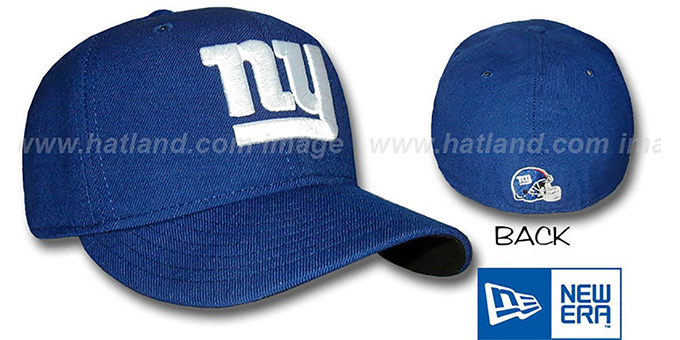 Giants 'TEAM LOGO' Fitted Hat by New Era - royal : pictured without stickers that these products are shipped with