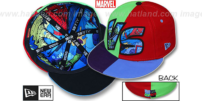 92a642189d6 Green Goblin  VERSUS  Spiderman Multi Fitted Hat by New Era