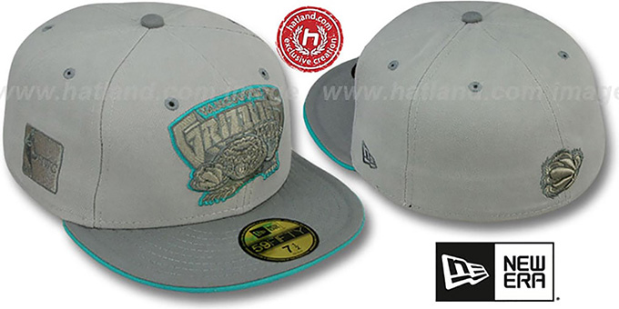 Grizzlies '2T HWC GREY-POP' Fitted Hat by New Era : pictured without stickers that these products are shipped with