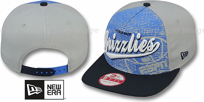 Grizzlies 'ESPN BRICK A-FRAME SNAPBACK' Hat by New Era : pictured without stickers that these products are shipped with