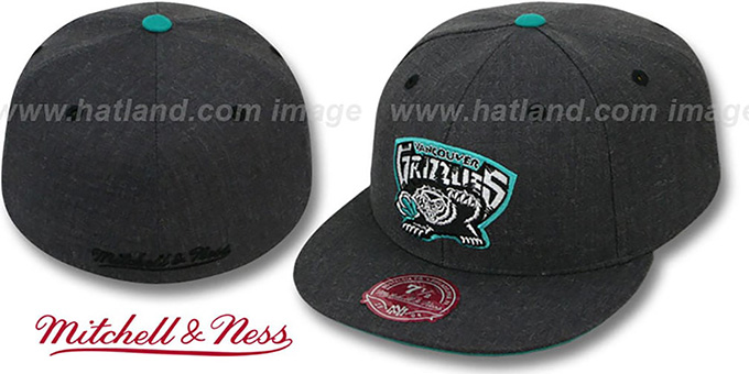 Grizzlies 'GREY HEDGEHOG' Fitted Hat by Mitchell & Ness : pictured without stickers that these products are shipped with