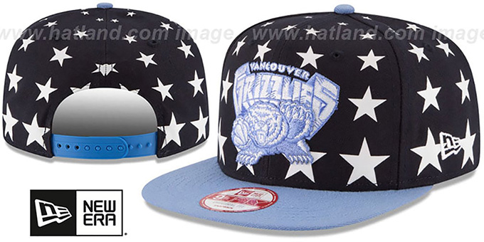 Grizzlies 'NBA ALL-STARRY SNAPBACK' Hat by New Era : pictured without stickers that these products are shipped with