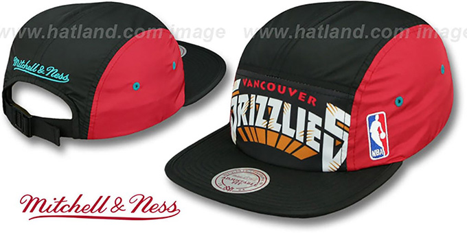 Grizzlies 'WORDMARK STRAPBACK' Black Hat by Mitchell & Ness : pictured without stickers that these products are shipped with