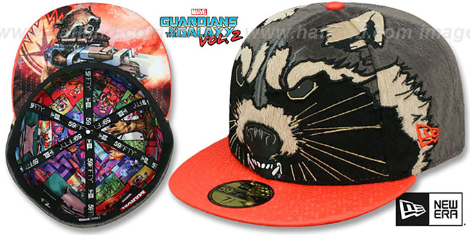 Guardians of the Galaxy  ROCKET RACCOON  Vol.2 Fitted Hat by ... 165077facc7