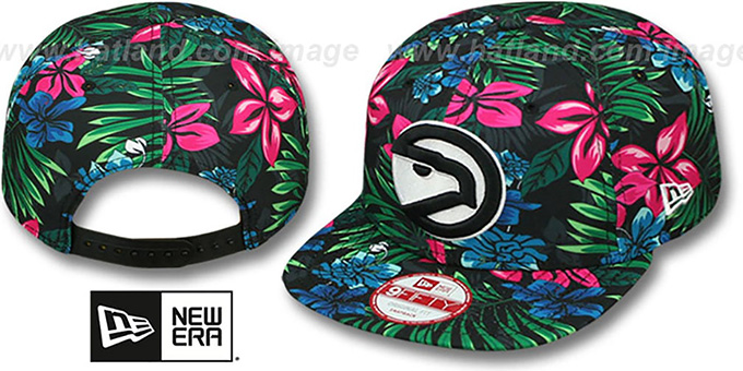 Hawks 'AMAZON BLOOM SNAPBACK' Hat by New Era : pictured without stickers that these products are shipped with