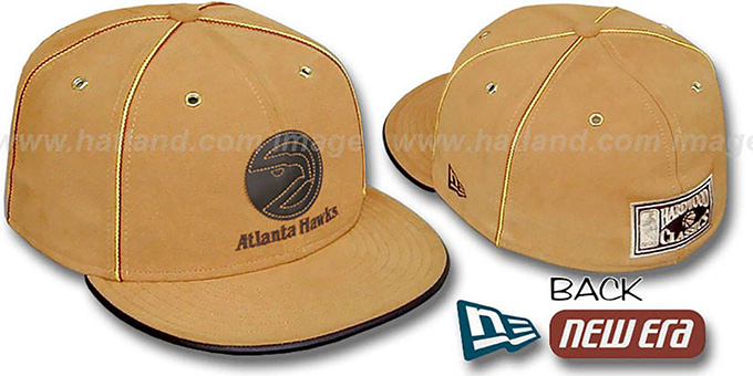 Hawks 'HARDWOOD DaBu' Fitted Hat by New Era : pictured without stickers that these products are shipped with