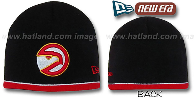 Hawks 'OLD SCHOOL TOQUE' Black Knit Hat by New Era : pictured without stickers that these products are shipped with