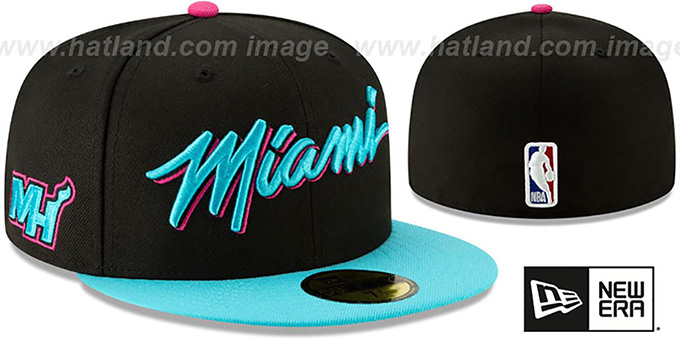 best cheap d1b1f cbabe ... where can i buy heat 18 19 city series black blue fitted hat by new  64ea8