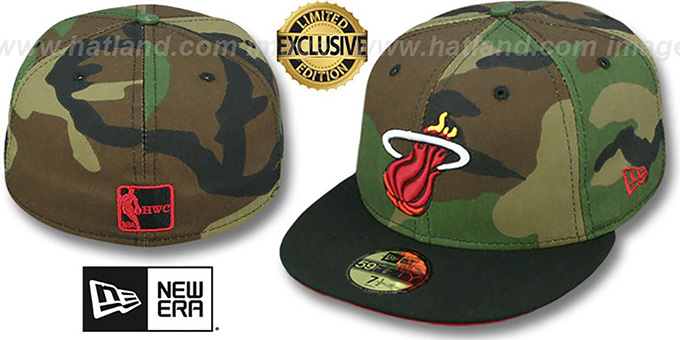 Heat '2T CAMO' Army-Black Fitted Hat by New Era
