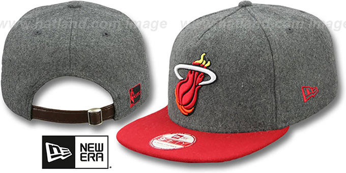 Heat '2T MELTON A-FRAME STRAPBACK' Hat by New Era : pictured without stickers that these products are shipped with