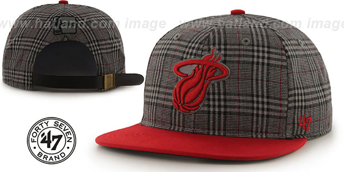 Heat '60-MINUTES STRAPBACK' Red Hat by Twins 47 Brand : pictured without stickers that these products are shipped with