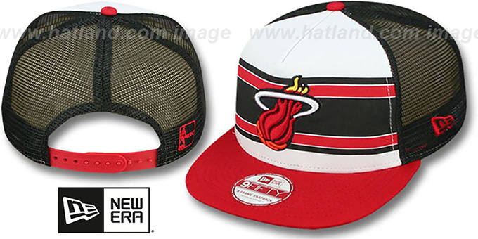 Heat 'BAND-SLAP SNAPBACK' Hat by New Era : pictured without stickers that these products are shipped with