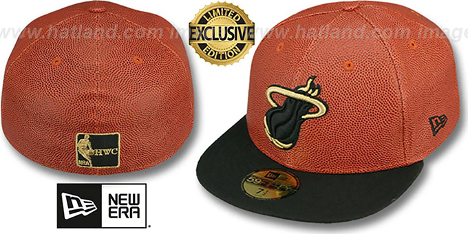 Heat 'BASKET-BALLIN' Fitted Hat by New Era : pictured without stickers that these products are shipped with