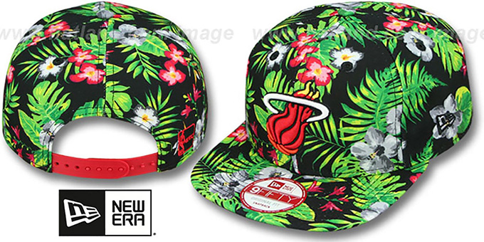 Heat 'BLOOM SNAPBACK' Hat by New Era : pictured without stickers that these products are shipped with