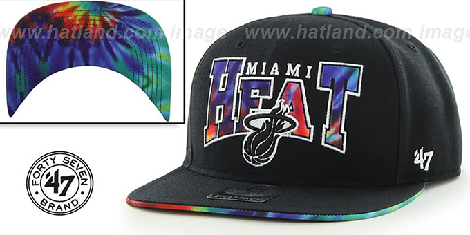 Heat 'CANNED-HEAT SNAPBACK' Black Hat by Twins 47 Brand : pictured without stickers that these products are shipped with