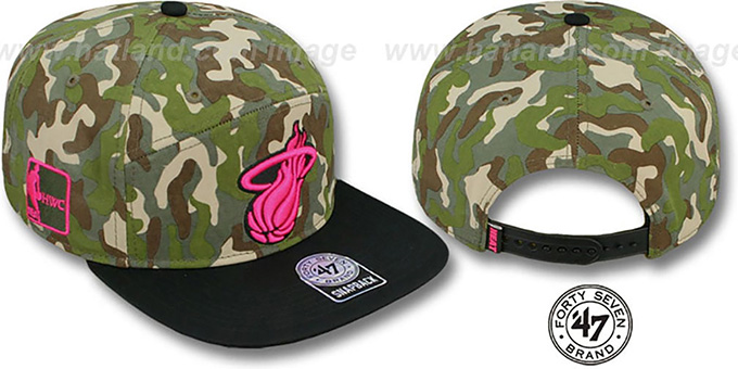 Heat 'CHENY CAMPER STRAPBACK' Hat by Twins 47 Brand : pictured without stickers that these products are shipped with