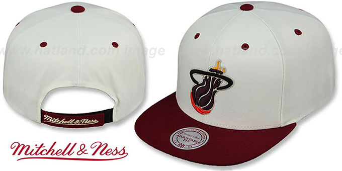Heat 'CREAMTOP STRAPBACK' Hat by Mitchell & Ness : pictured without stickers that these products are shipped with