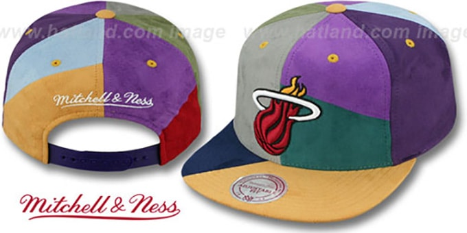 cheaper 32c3f c1089 Heat  CUT-N-SEW PATCHES SNAPBACK  Multi Hat by Mitchell and Ness