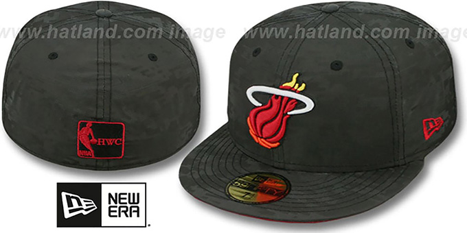 Heat 'DIGIFLECT' Black Fitted Hat by New Era : pictured without stickers that these products are shipped with