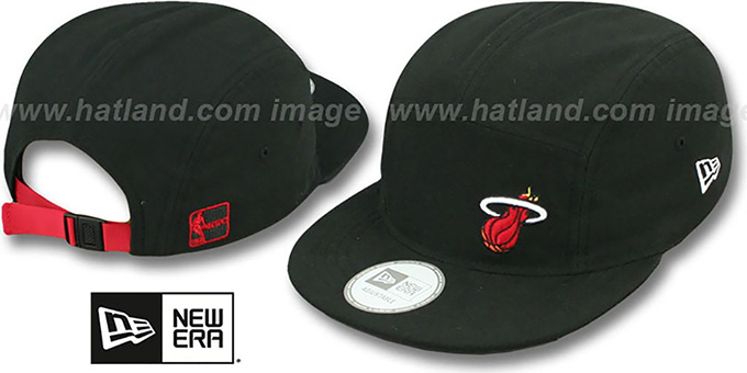 Heat 'FLAWLESS CAMPER STRAPBACK' Black Hat by New Era : pictured without stickers that these products are shipped with