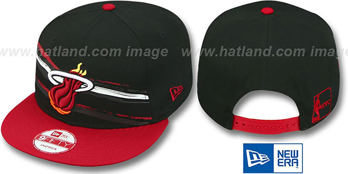 Heat 'FRANTAB SNAPBACK' Black-Red Adjustable Hat by New Era : pictured without stickers that these products are shipped with