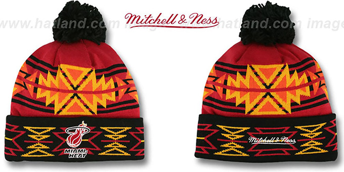 Heat 'GEOTECH' Knit Beanie by Mitchell and Ness : pictured without stickers that these products are shipped with