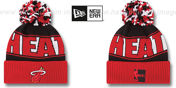 Heat HWC 'REP-UR-TEAM' Knit Beanie Hat by New Era : pictured without stickers that these products are shipped with