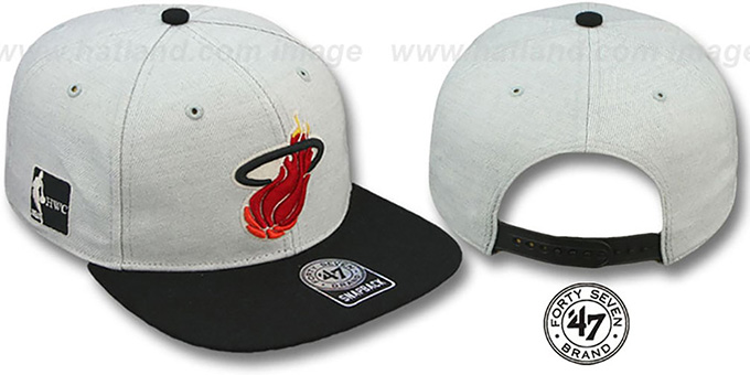 Heat HWC 'SATCHEL SNAPBACK' Adjustable Hat by Twins 47 Brand : pictured without stickers that these products are shipped with