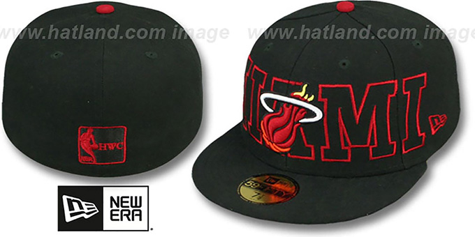 Heat 'HWC WRAP-IT-UP' Black Fitted Hat by New Era : pictured without stickers that these products are shipped with