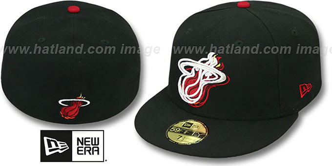 Heat 'ILLUSION' Black Fitted Hat by New Era : pictured without stickers that these products are shipped with